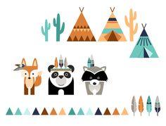 Wandtattoos - Wandtattoo Indianer - ein Designerstück von n-art bei DaWanda