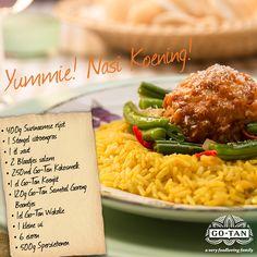 Recipe for delicious Nasi Kuning and sambal goreng telor! #indonesian #food