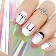"110 Likes, 4 Comments - Crazy Nailzz (@crazy.nailzz) on Instagram: ""Minimalist yet fabulous nail art by @so_nailicious #minimalist #minimalistic #minimal #minimalove…"""