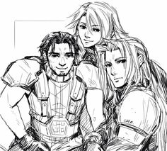 Final Fantasy VII: Crisis Core Genesis Angeal and Sephiroth by Crimson Sun
