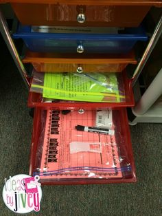 Organizing Math Workshop- how to use drawers and differentiate stations