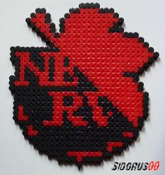 Logo Nerv Evangelion perler beads hama