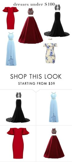 """My fav under $100 dresses 👗💲"" by leo-harry-potter ❤ liked on Polyvore featuring Badgley Mischka"