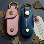 Buttero italian leather key holder (Fits max. 5 generic keys) with name stamping service. Thank you for your support. #Vitmehandcraft