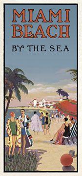 Nice 30's Miami Beach poster