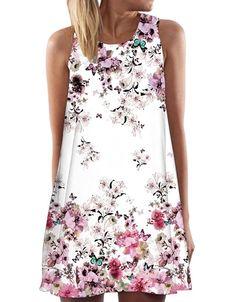Spring Summer Dress Women 2017 Vintage Boho Sleeveless Beach Flower Printed Short Mini Dress vestido de festa Plus Size Dress Outfits, Casual Dresses, Short Dresses, Mini Dresses, Sleeveless Dresses, Women's Dresses, Fashion Dresses, Dress Shoes, Mini Vestidos