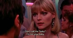 Don't call me baby. I'm not your baby. Citations Film, Not Your Baby, Daphne Blake, Dont Call Me, Provocateur, Movie Lines, Quote Aesthetic, 80s Aesthetic, Badass Aesthetic