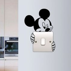 G Gallery Home Decor Mickey Mouse Wall Sticker Switch Vinyl Decal Funny Lightswitch Kids Room DIY in Home Furniture & DIY Home Decor Wall Decals & Stickers Simple Wall Paintings, Wall Painting Decor, Diy Wall Decor, Painting Furniture, Paintings For Kids Room, Diy Painting, Bedroom Furniture, Art Decor, Creative Wall Painting