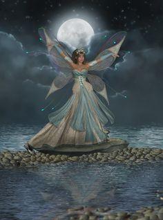 Dance of the Moon Fairy by on DeviantArt Fairy Dust, Fairy Land, Fairy Tales, Magical Creatures, Fantasy Creatures, Fantasy World, Fantasy Art, Fantasy Fairies, Moon Fairy