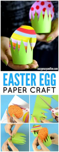 Paper Easter Egg Craft Idea - Easy Peasy and Fun - Paper Easter Egg Craft Idea – Easy Peasy and Fun Easy Easter egg paper craft! A fun craft for kindergartners this spring! Easter Arts And Crafts, Bunny Crafts, Easter Crafts For Kids, Spring Crafts, Holiday Crafts, Easter Activities, Preschool Crafts, Crafts For Kids To Make, Easy Crafts