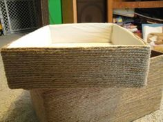 Lined Jute Baskets Constructed from Cardboard Boxes