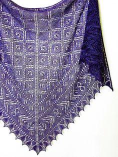 Nadira Shawl pattern by Dee O'Keefe  Favorite summer yarn project