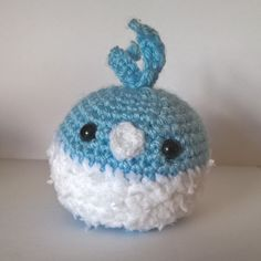 Tiny Swablu fits perfectly in the palm of your hand.  A bit of a beta design, I'm working on improving it before it appears I my Etsy Shop.  #Pokemon #Pokemon20 #oras #swablu #altaria #pokemonxy #Nintendo #gaming #videogames #crochet #amigurumi #crochetersofinstagram #crafts #handmade #Etsy #cute #adorable #chibi #kawaii
