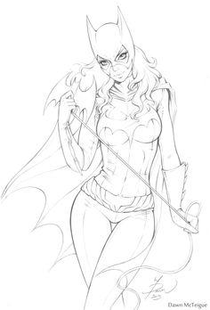 Batgirl Commission Pencils by Dawn-McTeigue on deviantART
