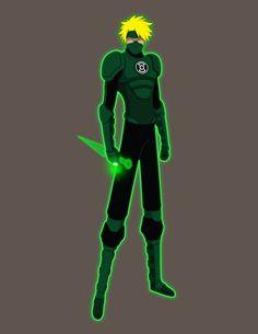 Green Lantern/Naruto Crossover Concept by Jarein on DeviantArt Green Lantern Cosplay, Blue Lantern, Green Lantern Corps, Green Superhero, Superhero Books, Character Art, Character Design, One Piece Episodes, Warcraft Art