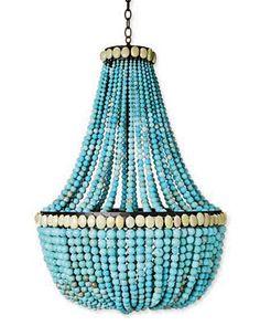 turquoise chandelier: I need one!