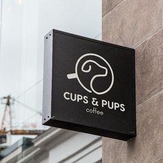 Design a minimalist logo for dog friendly coffee shop by ★ Mario Yan ★ #DogLogo