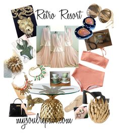 """Retro Resort"" by mysoulrepair on Polyvore featuring Yosi Samra, Sebastian Professional, Trifari, Hermès, Global Views, Christian Louboutin, Lillie Rubin, Givenchy and vintage"
