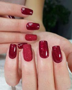 Nun, sag mir, wer und was auf dem Nagel tun wird . - Ногти - Nun, sag mir, wer und was auf dem Nagel tun wird … – Ногти – Red Shellac Nails, Red Acrylic Nails, Acrylic Nail Designs, Glitter Nails, Red Ombre Nails, Red Nail Designs, Nail Polish Pens, Christmas Gel Nails, Nagellack Design