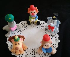 1st Birthday Cake Topper, Circus Party, Clowns, 1st Birthday Party, Clown Cake Decoration, Circus Clown, Circus Animal Set, Circus Carnival - Cake Toppers Boutique  - 1