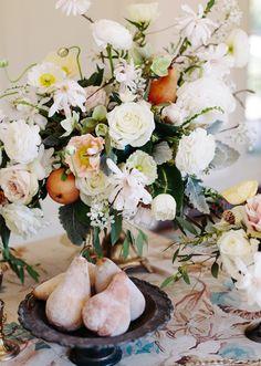 Renaissance inspired wedding decor   photos by Annabella Charles Photography   100 Layer Cake