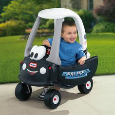 Little Tikes 30th Anniversary Edition Patrol Police Car Riding Push Toy | from hayneedle.com