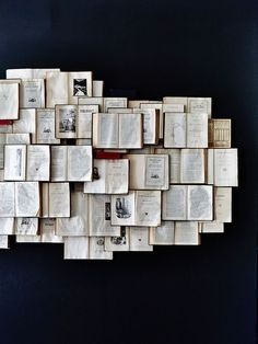 What to do with old books? You can use them as wall decor. Here you can find many creative DIY wall art projects with used books. An amazin home decor idea. Book Wall, Open Book, Old Books, Vintage Books, Vintage Type, Ravenclaw, Fasion, Book Worms, Creations
