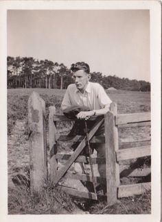 Old #photo handsome man farm gate #farming #fashion nv924,  View more on the LINK: http://www.zeppy.io/product/gb/2/152398493156/