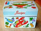 Ohio Art TIN RECIPE BOX Lobster w/ Dividers & Cards