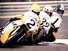 Kenny Roberts Steve Baker and Giacomo Agostini