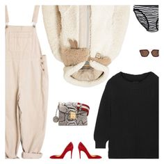 """Acne Studios Shearling Coat"" by amberelb ❤ liked on Polyvore featuring Hatch, Christian Louboutin, Bally, Acne Studios, Victoria's Secret and CÉLINE"