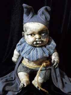 Creepy Prop Doll Haunted Horror OOAK Altered Art Doll Gothic Dead Monster Freak Zombie Halloween Scary Odd Weird By L.Cerrito