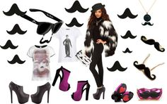 """""""Moustache Gangnam Style"""" by scenography-of-your-life ❤ liked on Polyvore"""