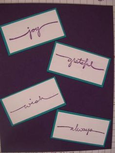 Small Script Index by galleryindex - Cards and Paper Crafts at Splitcoaststampers