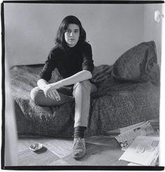 emigrejukebox:  Diane Arbus: Susan Sontag Alone on a Bed, New York, 1965