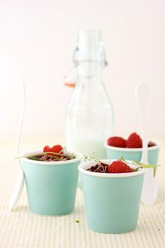 chocolate and raspberry pot de creme by cannelle-vanille, via Flickr