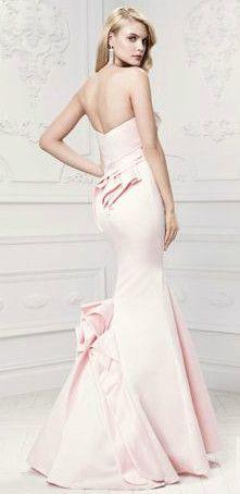 Truly Zac Posen Long Mermaid Gown with Draped Neckline Style ZP281437 #pinkweddings #weddingguest
