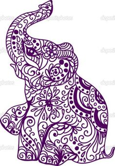 elephant mandala cutting files svg eps dxf png pdf
