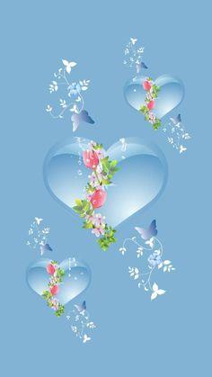Blue hearts light wallpaper by Ninoscha - aa - Free on ZEDGE™ Beautiful Wallpaper For Phone, Blue Wallpaper Iphone, Beautiful Flowers Wallpapers, Lit Wallpaper, Purple Wallpaper, Heart Wallpaper, Pretty Wallpapers, Colorful Wallpaper, Galaxy Wallpaper