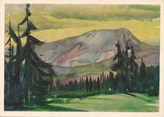 Vintage Zuze (The top of Petros) Postcard - 1961