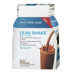 i been thinking about doing this..it would be easier /  GNC Total Lean™ Lean Shake™ - Swiss Chocolate--trying this as one meal replacement a day.