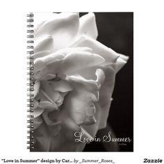 """Love in Summer"" design by Carole Tomlinson Notebook"