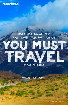 #travel #inspiration #quote #waltwhitman
