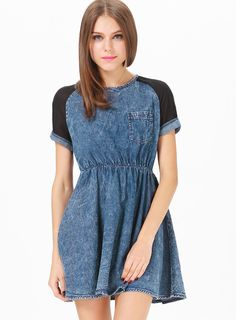 Shop Blue Contrast Short Sleeve Denim Skater Dress online. Sheinside offers Blue Contrast Short Sleeve Denim Skater Dress & more to fit your fashionable needs. Free Shipping Worldwide!