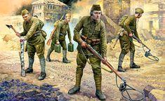 A. Yezhov. Soviet sappers, 1941-1942.