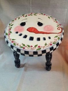 Too cute snowman stool