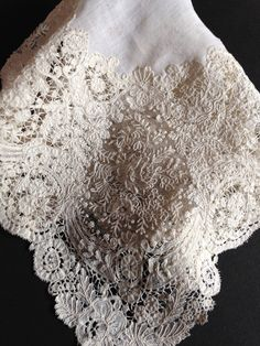 Victorian Wedding Fashion: Tradition and Preparation for the Ceremony Part I. Dress of the Bride Victorian Lace, Antique Lace, Vintage Lace, Vintage Handkerchiefs, Passementerie, Romantic Lace, Linens And Lace, Lace Doilies, Lace Embroidery