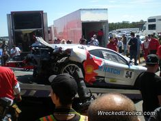 Ferrari F430 Challenge crashed in Millville, New Jersey