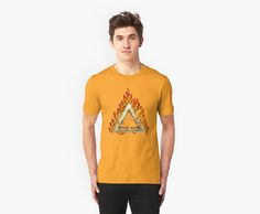 Divine Triangle on Flames by Lidra