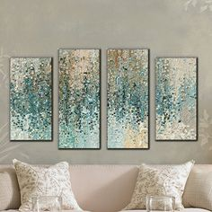 """Picture Perfect International """"Revealed"""" by Mark Lawrence 4 Piece Painting Print on Wrapped Canvas Set Framing Canvas Art, Diy Canvas Art, Wall Canvas, House Canvas, 3 Piece Canvas Art, Metal Wall Decor, Diy Wall Art, Framed Wall Art, Gallery Wall Frames"""